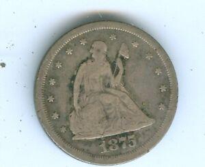1875-S TWENTY CENT PIECE--CIRCULATED