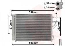 Kondensator, Klimaanlage für Klimaanlage VAN WEZEL 82005280