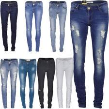 Vaqueros de mujer sin marca color principal azul