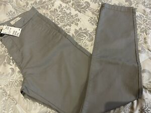 H&M NWT Mens UK 33 Inch Waist Skinny Fit Grey Chinos /Jeans RRP £19.99
