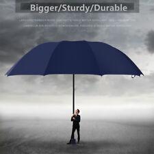 "60"" Large Rain Umbrella Unisex Three folding Windproof Compact Anti-UV  Umbrella"