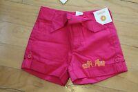 NWT Gymboree Girls Batik Summer Hot Pink Woven Elephant Shorts 4 4T