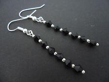 Black Crystal Costume Earrings