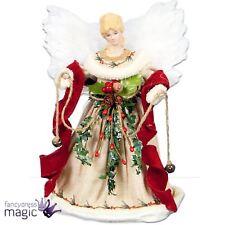 30cm natural Ángel Hada de árbol de Navidad Topper con plumas blancas alas Top