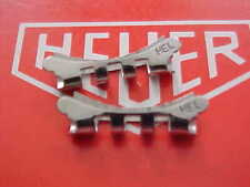 Vintage Heuer HEL Stainless Steel Band Ends Factory Parts 18 MM