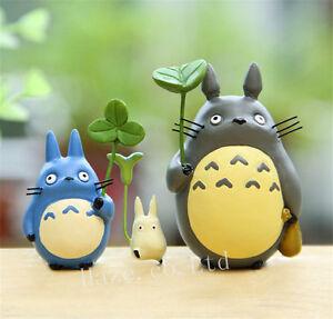 3PCS Studio Ghibli Totoro Resin Figure Figurine Collectible Model Toy