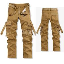 Men Military Army Camoflauge Camo Ranger Casual Trouser Combat Cargo Pants  40 Khaki cec625490e9f