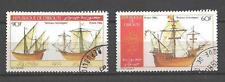 Bateaux Djibouti (85) série complète de 2 timbres oblitérés