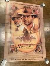 1989 Original Indiana Jones And The Last Crusade One Sheet Movie Poster 27x40