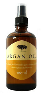 ARGAN OIL 100% Cold Pressed Pure Certified Organic Moroccan Argan Oil 100ml