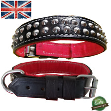 Leather Spiked Studded Dog Pet Collar Rivet Metal For ALL Dogs Breeds Handmade