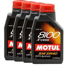 Motul 8100 5W40 X-cess Synthetic Motor Oil 1 Liter (Pack of 4)