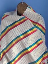 Ethiopian Traditional Netela/Scarves with Rasta colour and a touch of gold