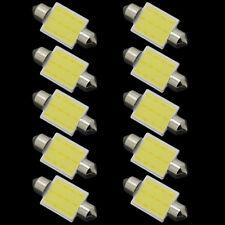 10pcs 41mm Festoon COB 12 Chips DC 12V LED Car Dome Reading Lights Car Light