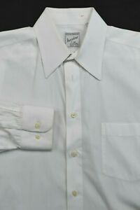 * Cellini for Barcelino * Solid White Cotton Formal Dress Shirt 15.5 x 34.75