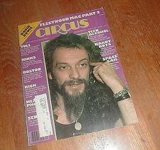 CIRCUS MAGAZINE 4/14/77 #153 JETHRO TULL Kinks BOSTON w DAVID BOWIE POSTER VG++