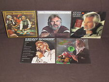 KENNY ROGERS 5 LP RECORD ALBUMS LOT COLLECTION Christmas/Greatest Hits/Gambler+