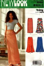 New Look Sewing Pattern 6288 Misses Skirts Long Knit Skirt Sizes 8-20