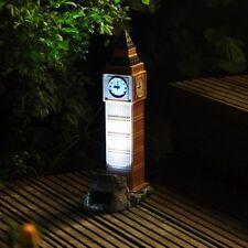 Big Ben British Clock Towel ,Solar Panel Garden Light / Ornament SLBEN