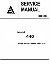 Allis Chalmers 440 Tractor Service Manual Book Reproduction