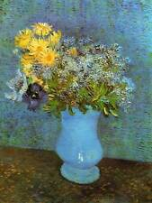 VINCENT VAN GOGH VASE WITH LILACS DAISIES ANEMONES ART PAINTING PRINT 3008OMB