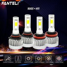 9005+H11 6000K 2600W Combo CREE Fanless LED Headlight Kit High Low Light Bulbs
