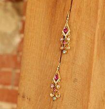 Multi-coloured Geometric Earrings