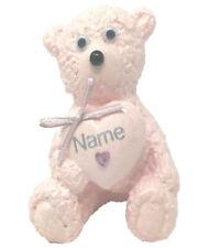 Daughter Grave Memorial Ornament Girls Baby Pink Teddy Bear Graveside Tribute