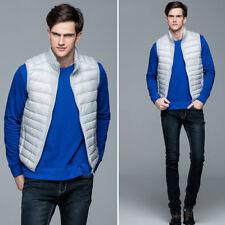 Mens Ultralight Duck Down Sleeveless Puffer Jacket Coat Vest Waistcoat Packable