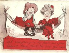 Postcard Today in the hammock... Comic Love Humor Valentines Couple