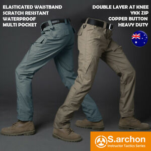 S.Archon Mens Genuine Tactical Waterproof Combat Hiking Camping Outdoor Pants