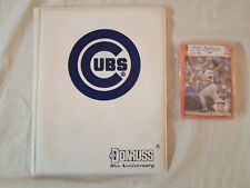 Complete ! Chicago Cubs *Team Set* 1990 Donruss Baseball Card Folder Sleeve Book