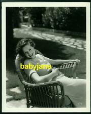 ELSA LANCHESTER VINTAGE 8X10 PHOTO BY VIRGIL APER 1934 CANDID OUTDOORS DBL WGT