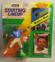 1992  WARREN MOON Starting Lineup (SLU) Football Figure, Poster & Card - OILERS