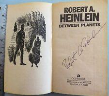 "Robert Heinlein signed / autographed ""Between Planets� paperback"