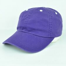 Blank Washed Slouch Purple White Plain Adjustable Sun Buckle Hat Cap Curved Bill