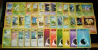 NM COMPLETE Unlimited Pokemon BASE Set 38 Card Common Set Trainer Energy