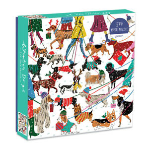 Winter Dogs 500 Piece Jigsaw Puzzle by Galison