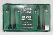 """Retired Department 56: Heritage Village: """"Old World Street Lamps"""" #5503-4"""