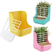 2 in 1 Food Hay Feeder for Guinea Pigs, Rabbits, Rats, Chinchilla, Feeding  M1K3