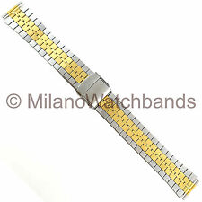 16mm Hirsch Bijou Two Tone Stainless Steel Two Piece Watch Band 2120