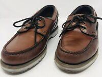 Sebago Mens Dockside Brown Oiled Leather Boat Shoe Size 11