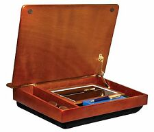 Lap Notebook Wood Lapdesk Desk Storage Bed Laptop Holder Pillow Portable New