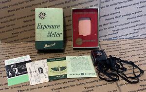 GE PR-30 Mascot Exposure Meter General Electric Camera Vintage 1951 Complete