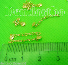 4xGold Traction Chain Button Dental Orthodontic Handpiece Niti File Light Cure