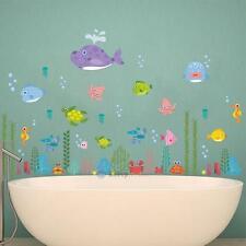 Baby Kid Wall Decal Bedroom Sea World Nursery Stickers Art Room Decor Removable