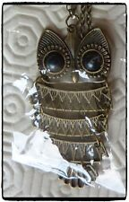 Owl Necklace,Costume Jewellery,Gifts,Owl,Bronze,Chain,Lovely,Bird,Cute,Necklace