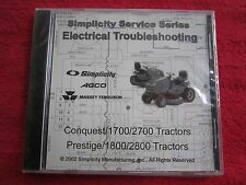 CONQUEST,1700,2700,PRESTIGE,1800,2800 SERIES TRACTOR ELECTRIC TROUBLESHOOTING CD