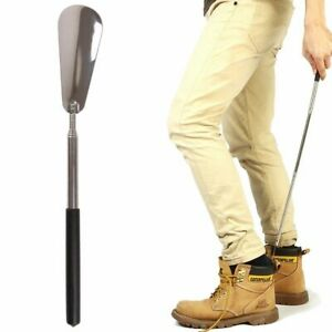 Shoe Horn Long Handle Shoehorn Aid Remover Metal Extendable Easy Handheld UK