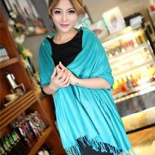 Fashion Men Women Autumn Winter Wool Blend Cashmere Warm Scarf Tasse Wrap Shawl